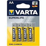 Батарейки Varta SUPERLIFE Mignon пальчиковые AA R6, 1.5V, 4 шт./уп, цена за упаковку
